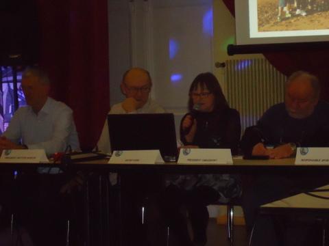Rapport d'activité par la secrétaire Irène Cambus
