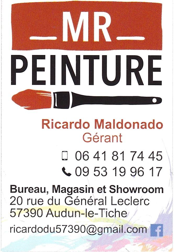 MR PEINTURE  20 RUE DU GL LECLERC  57390 Audun le Tiche